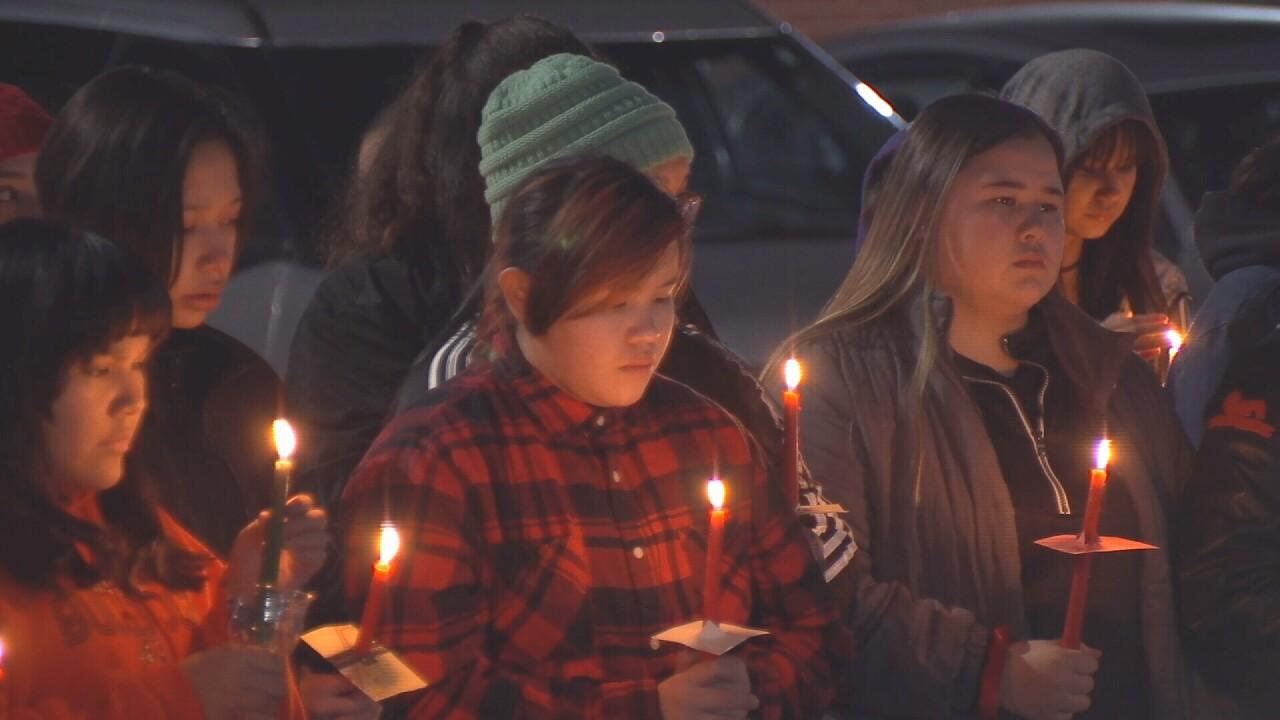 Hardin remembers Selena Not Afraid at vigil