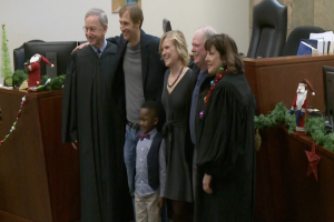 Boy's entire class shows up for adoption ceremony