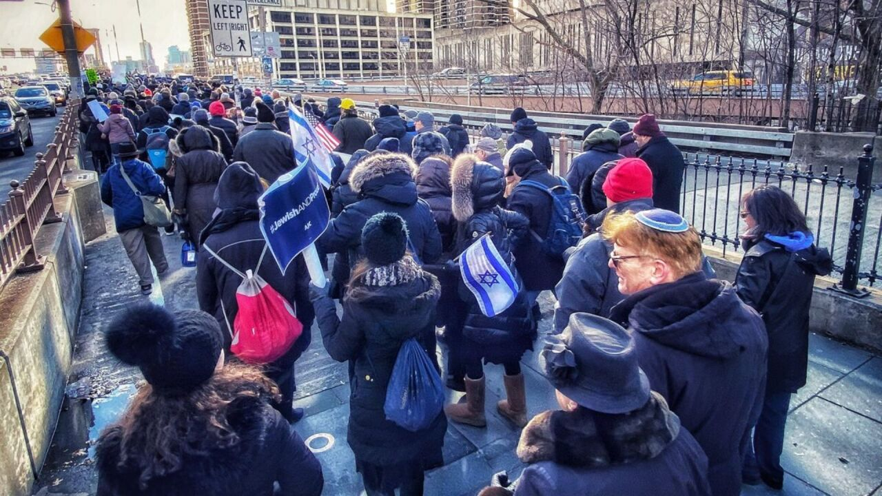 Anti-hate march in support of the Jewish community on Jan. 5, 2020