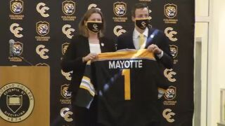Mayotte introduced as new hockey coach at Colorado College