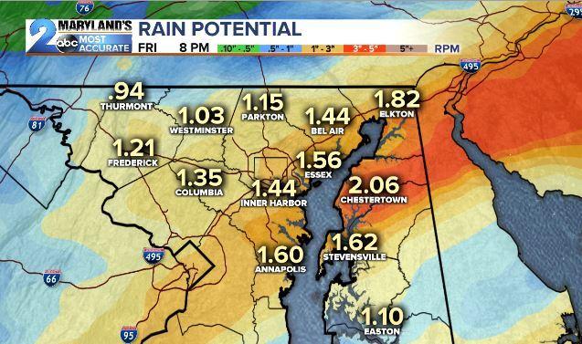 Rain Amounts Friday Through 8pm
