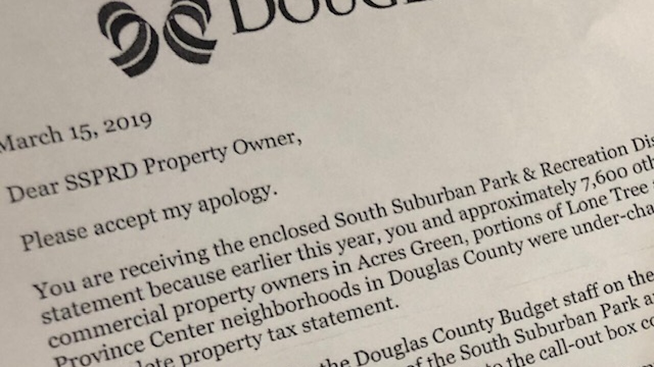 Douglas County apologizes for mill levy error