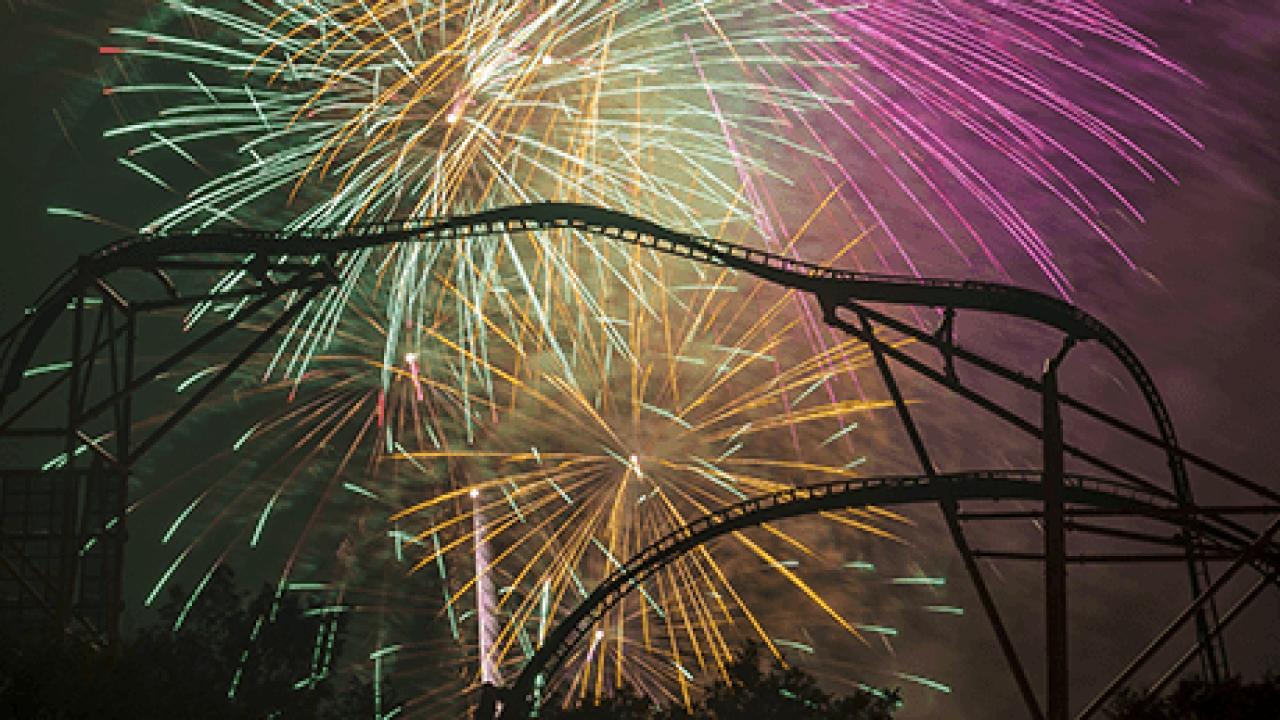 Fireworks spark brush fire at BuschGardens