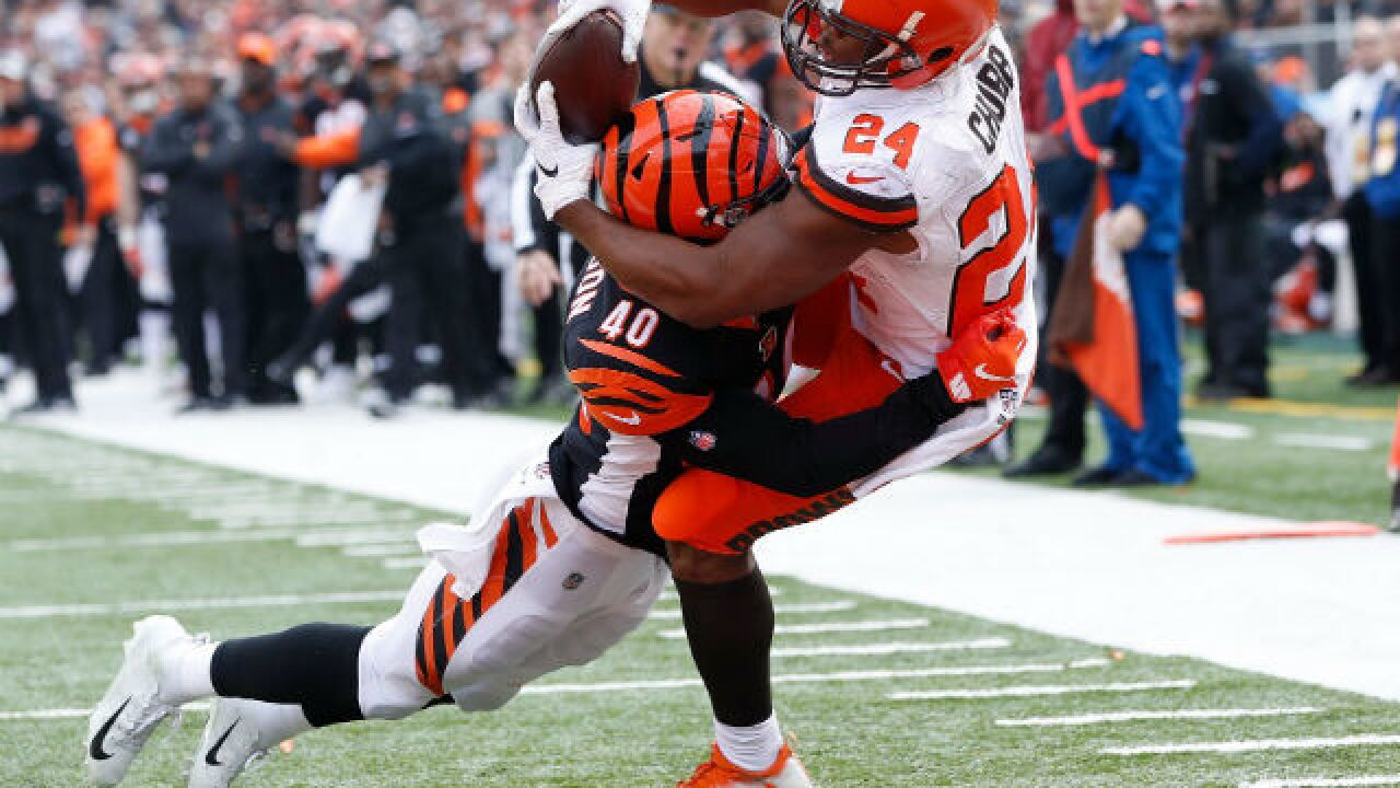 Baker Mayfield's 4 TD passes, injury to Andy Dalton send Bengals