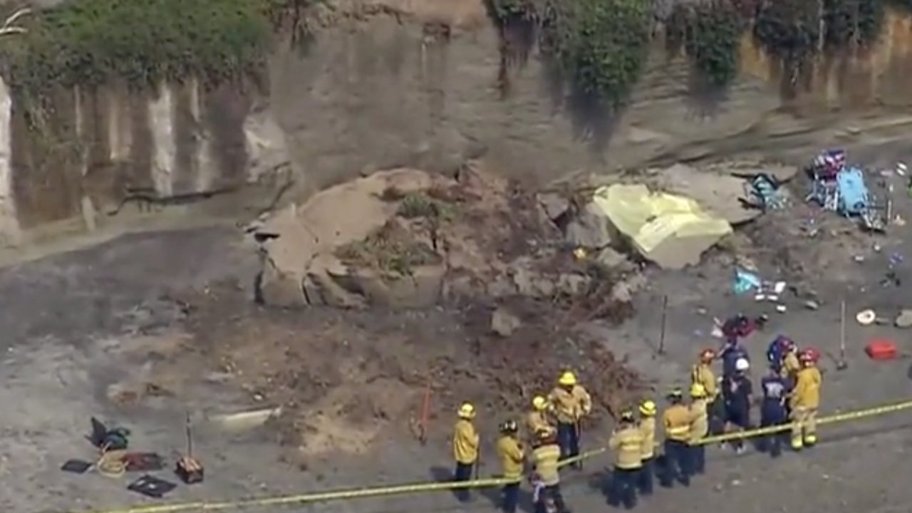 A chunk of a cliff the size of a bus fell in a California bluff collapse, leaving 3 dead and 2 injured