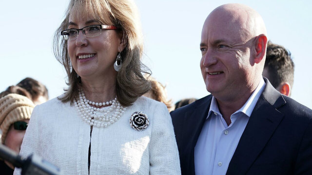 Former Rep. Gabrielle Giffords, astronaut Mark Kelly being honored with award aboard USS Midway