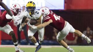 Blake Corum, Cam Taylor-Britt, Nick Henrich Michigan Nebraska Football