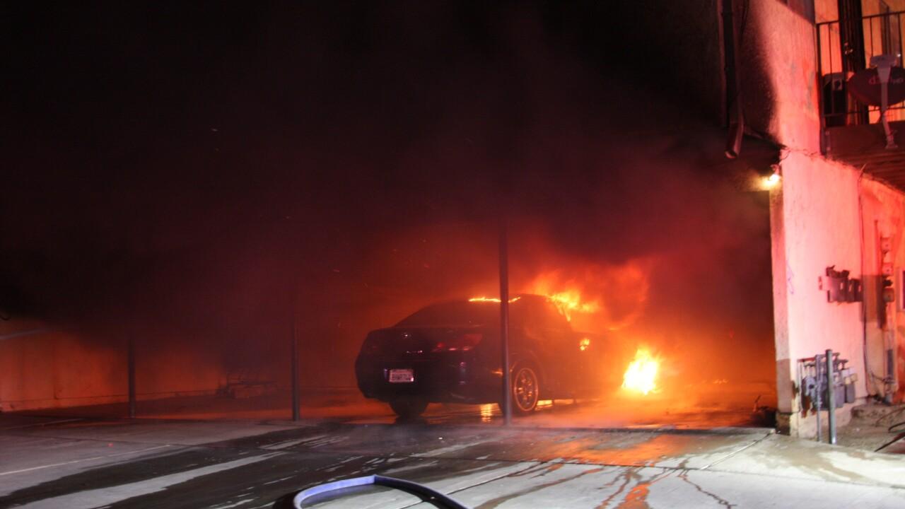 Palm Dr Car Fire