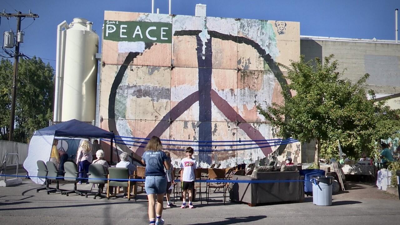 Missoula Peace Sign reassembled