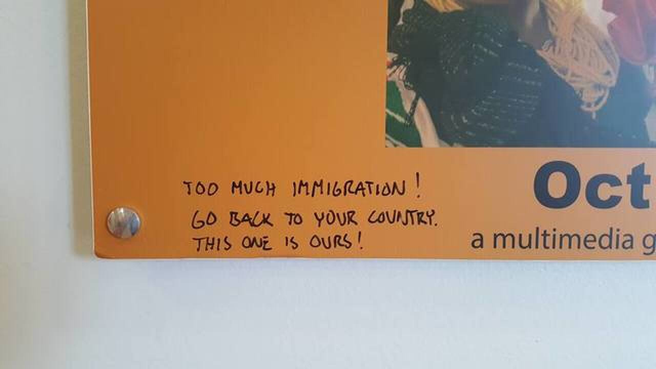 Museum defaced with anti-immigrant hate speech