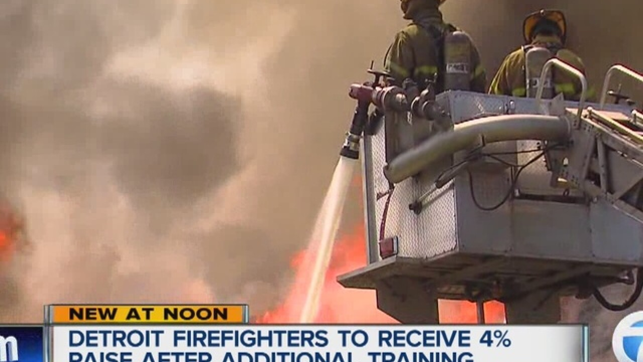 Detroit firefighters getting a raise