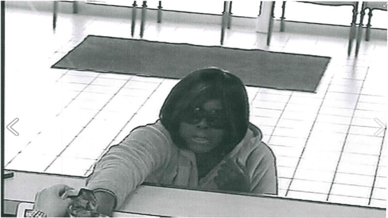 Woman arrested in connection to bank robbery