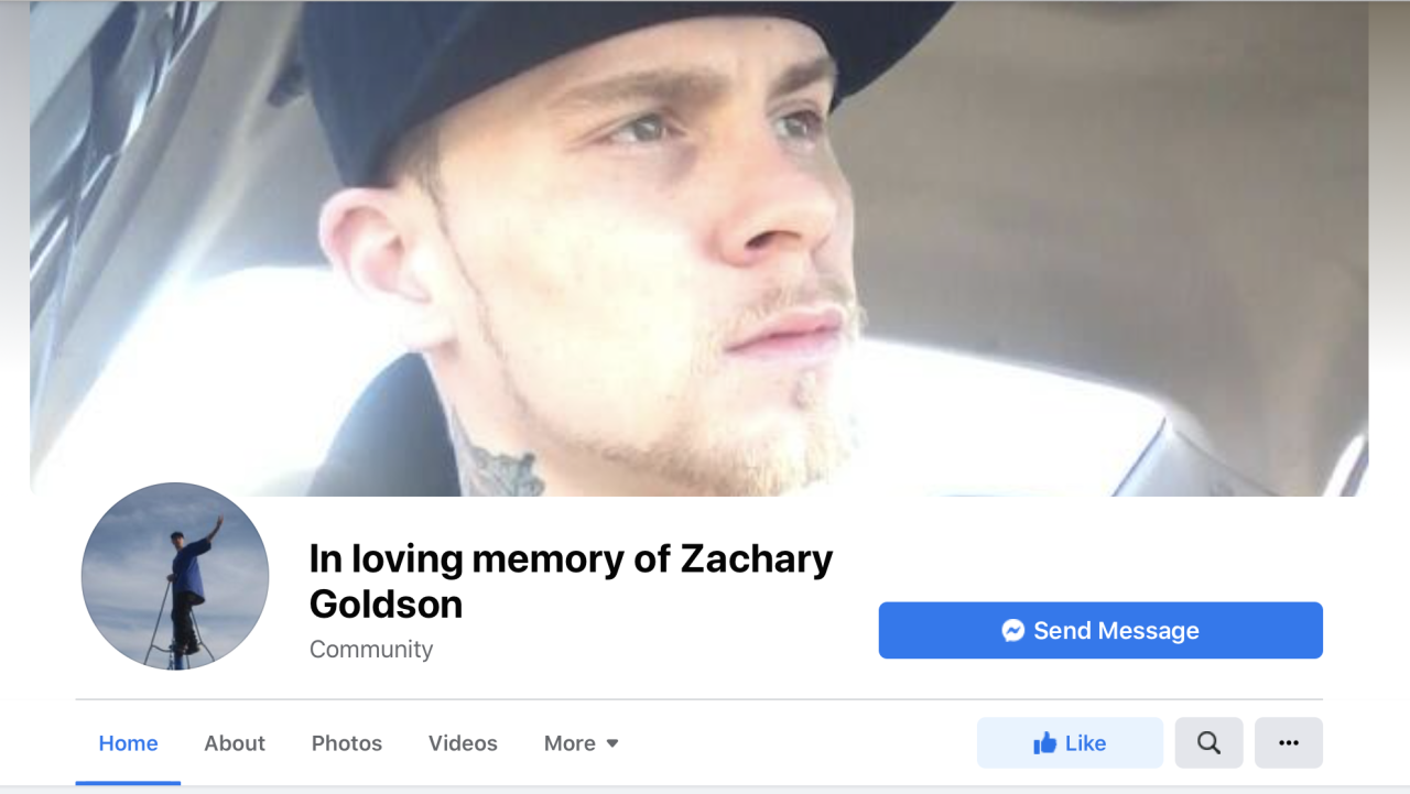 Zachary Goldson Facebook page