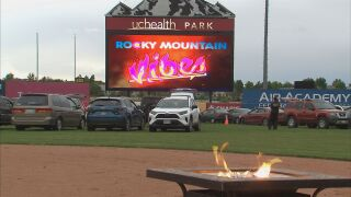 Vibes host drive-in movie night at UCHealth Park