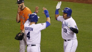 Alex Gordon, Salvador Perez, Mike Fiers