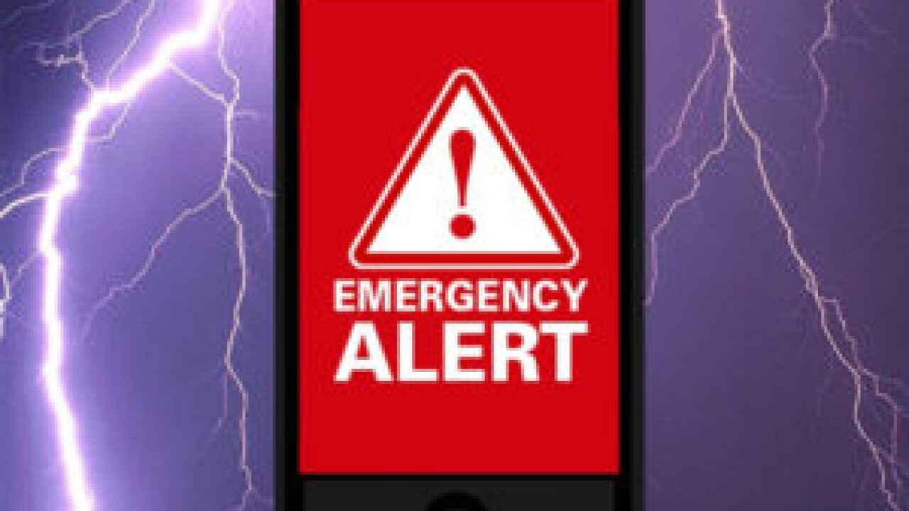 Sign up for local emergency notification system to receive