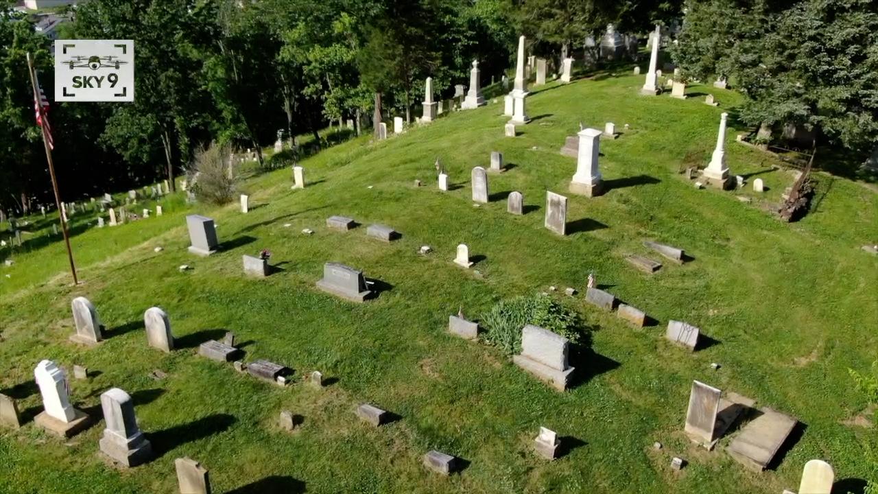 Sky 9 shot of Augusta Cemetery