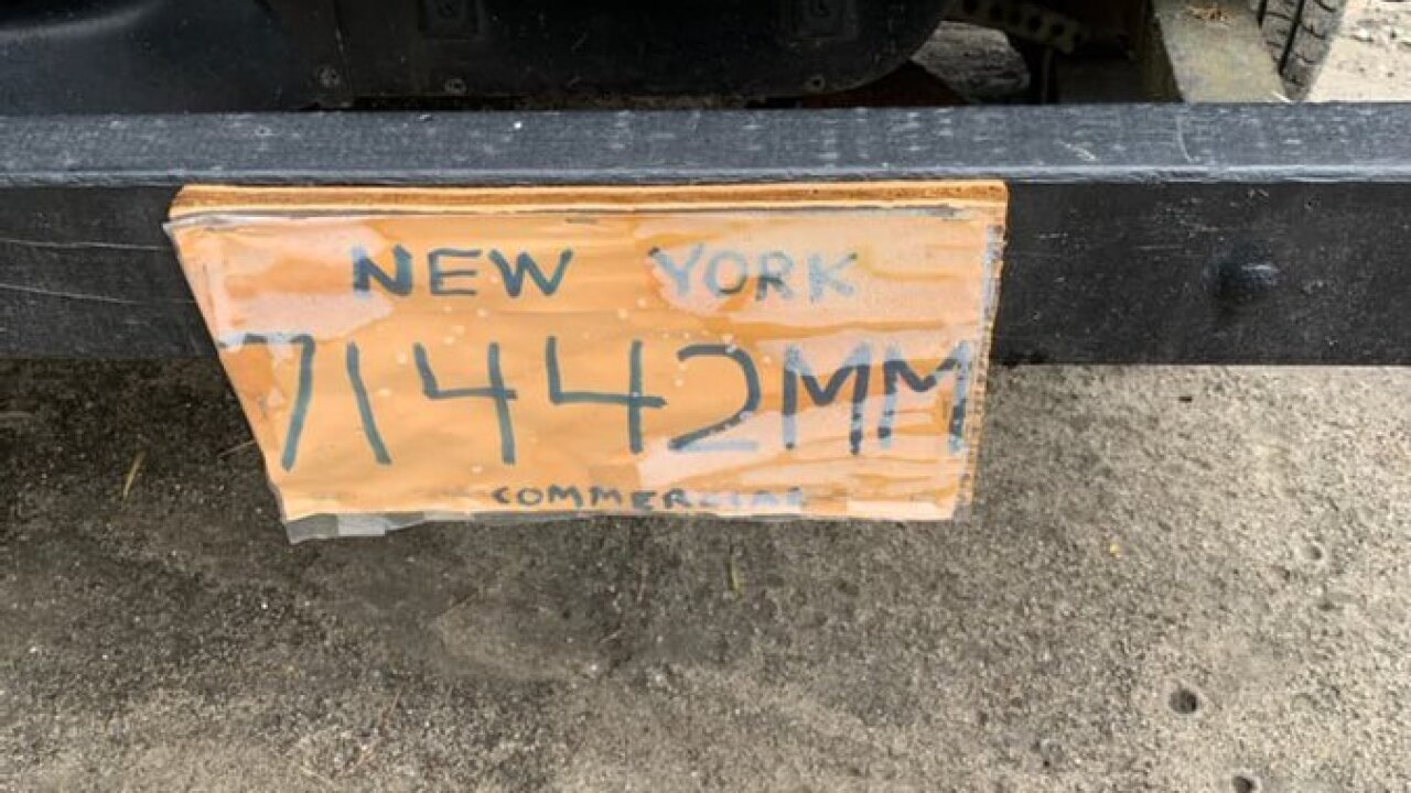 New York State Police issue warning about fake DIY license plates