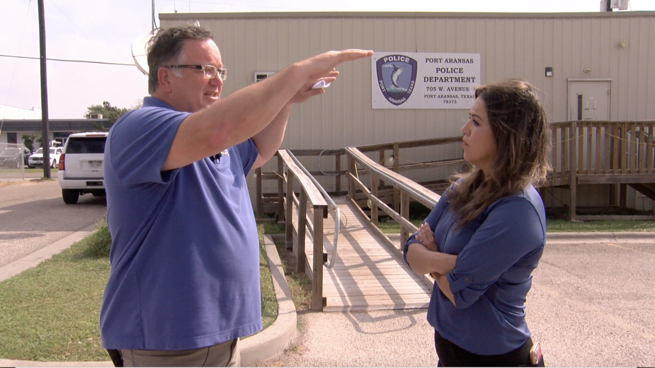 Port Aransas City Manager recalls Hurricane Harvey and the damage it caused to the Public Safety building