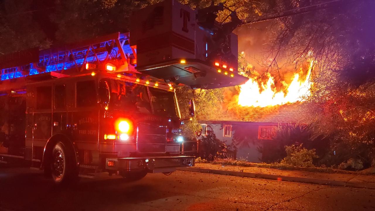 Lake Elmo Drive house fire