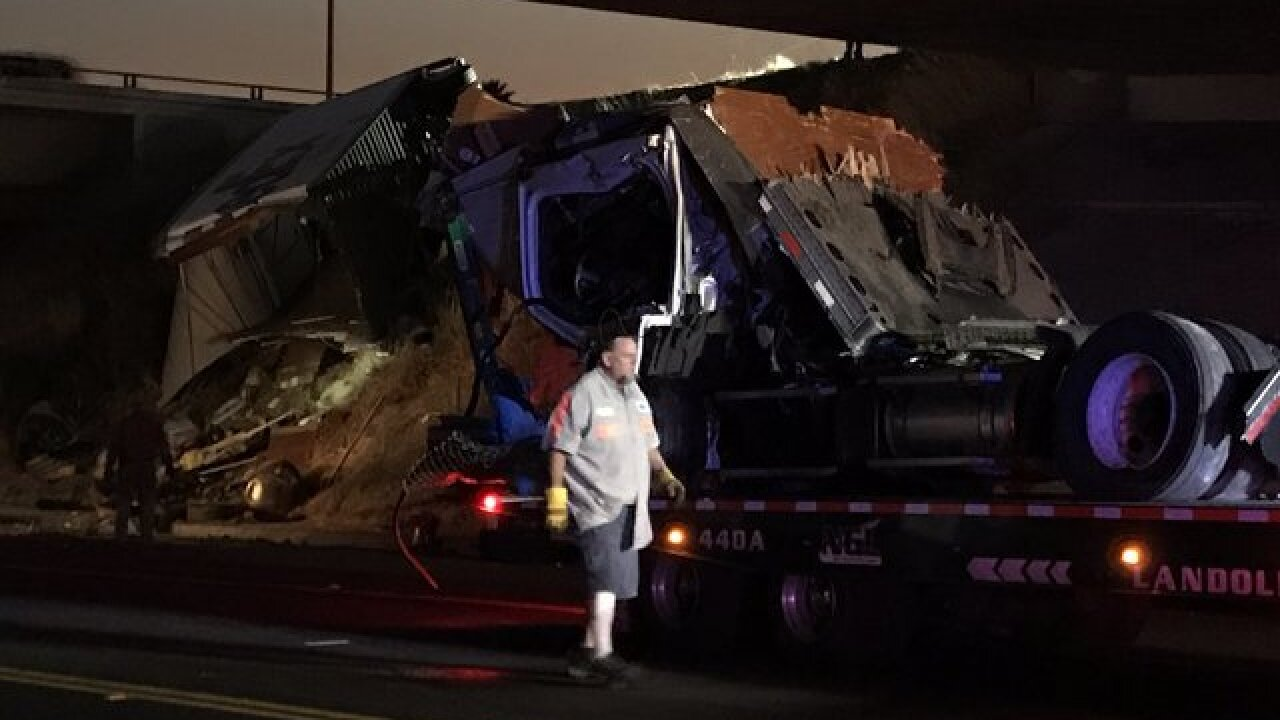 One dead in vehicle vs. semi crash on Sr-905