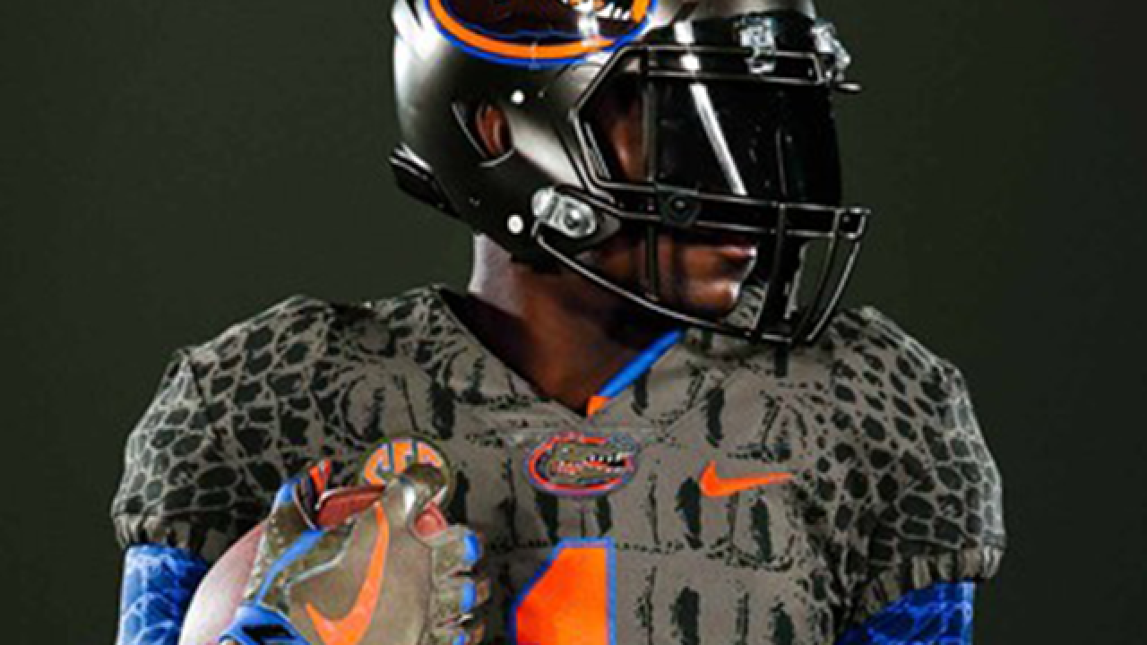 Florida's new uniforms look like alligator skin