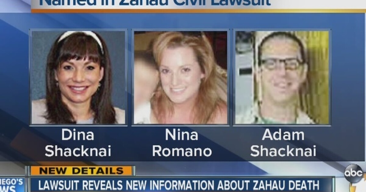 $10M suit: Zahau was beaten, gagged and strangled