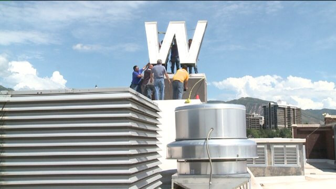 Walker Center's old 'W' welcomed at new high school home
