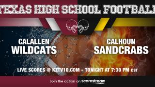 LIVE SCORES: Calallen Wildcats vs Calhoun Sandcrabs