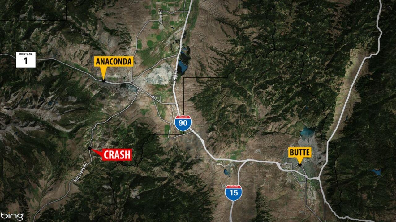 Driver dies after truck overturns near Anaconda