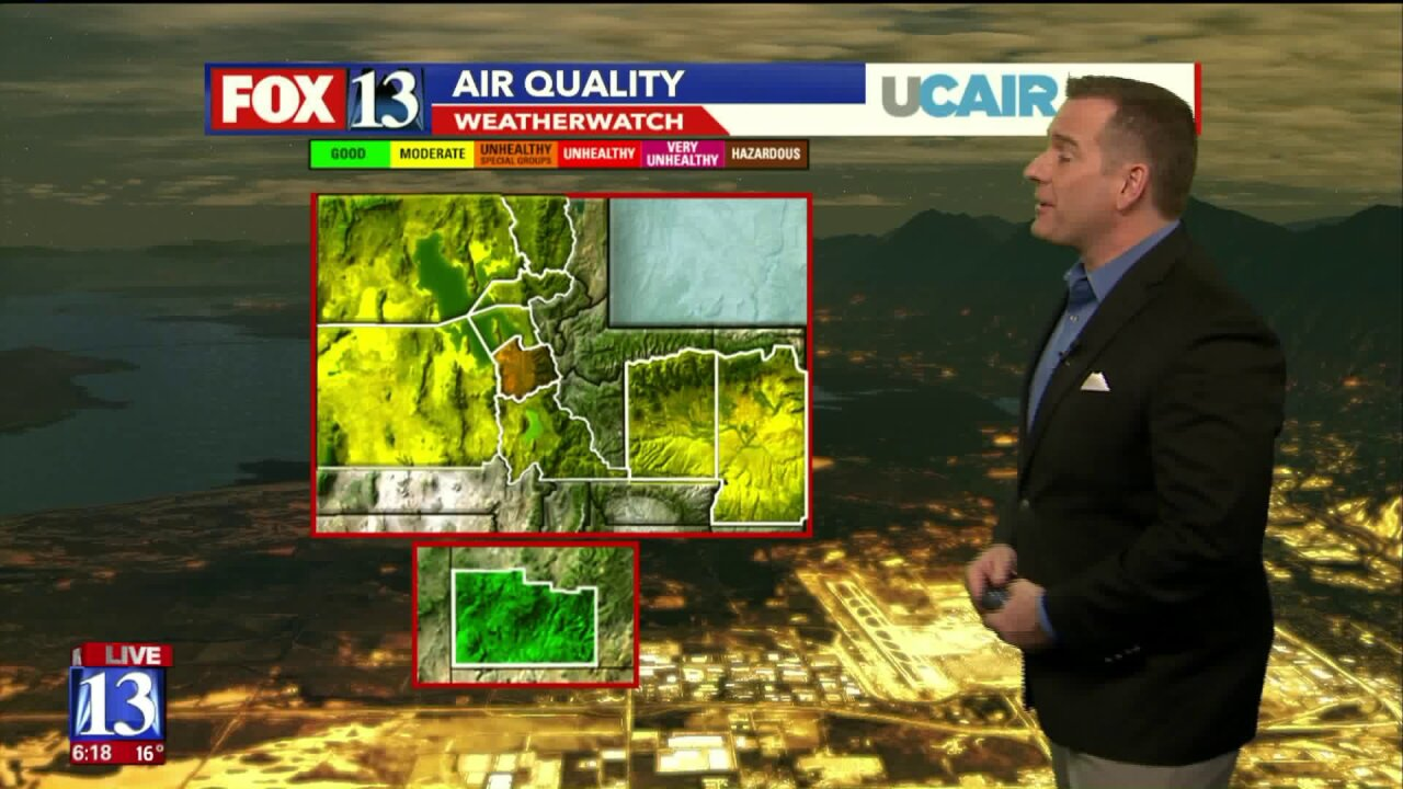 Yellow, orange air in forecast for northern Utah