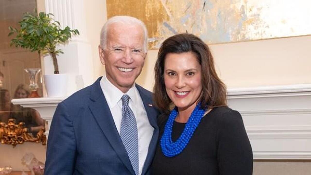 Biden considering Michigan Gov. Gretchen Whitmer as a running mate should he win nomination