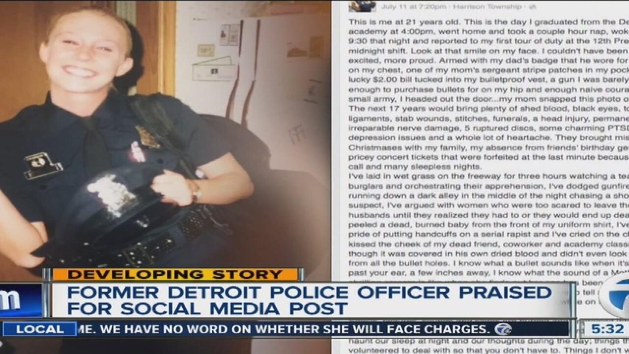 Former Detroit police officer's post goes viral