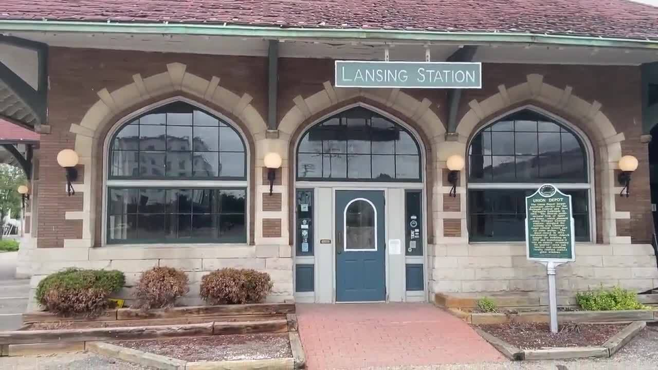 Clara's Restaurant, the site of the Downtown Lansing Depot Station