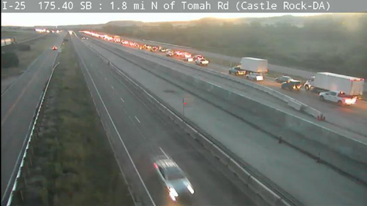 Both lanes of NB I-25 open following construction delay