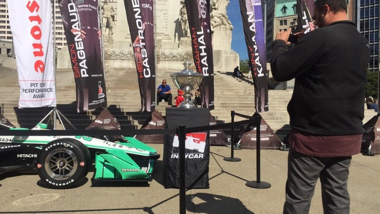IndyCar Series celebration at Monument Circle