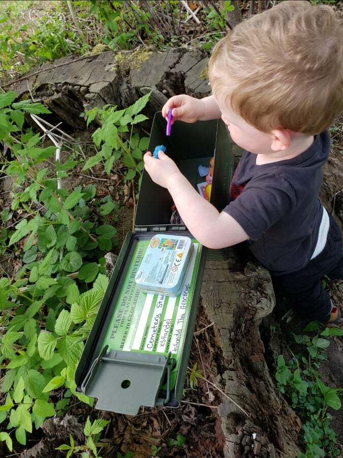 Vincent Kelly out Geocaching with his family