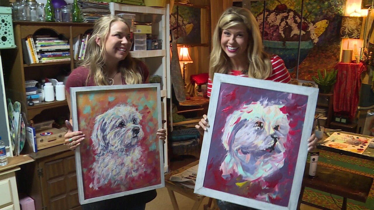 Nikki-Dee Ray gets creative with artist Kasey Ogle