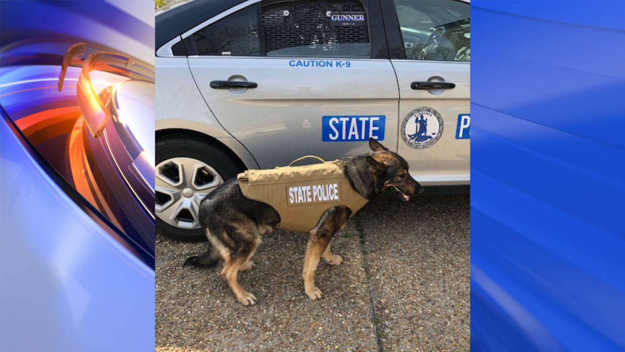 Virginia State Police K9 receives donated body armor