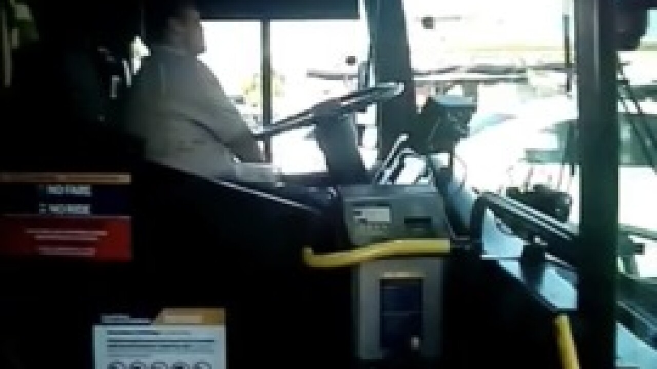Eating while driving: Vegas bus driver suspended