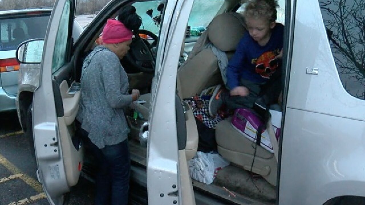 Homeless Colorado family lives inside vehicle
