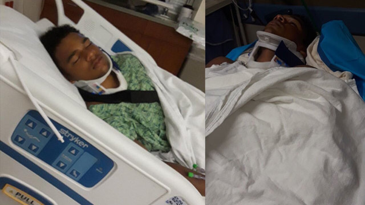 Teen athlete released from hospital after fight