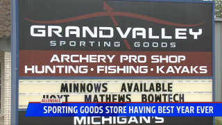 Sporting goods store having best year ever