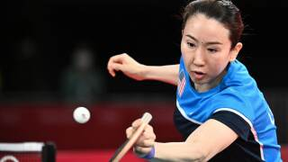 Team USA's last woman standing in table tennis