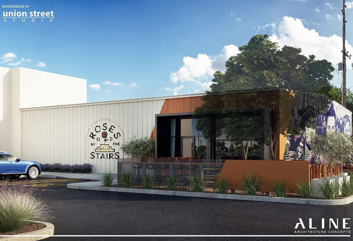 Roses By The Stairs Brewing - Concept rendering