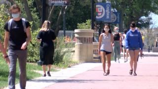 creighton university masks campus students