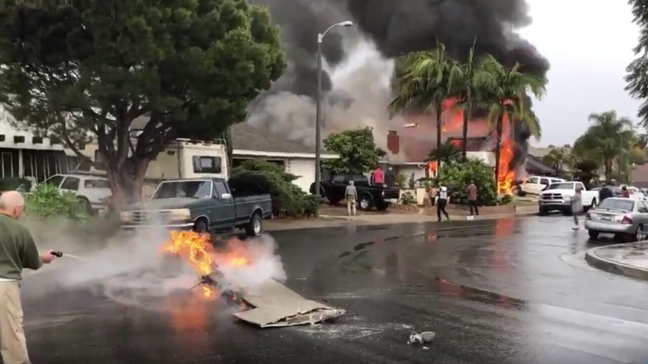Two killed after small plane crashes into California home on plane crash into home, chicago plane crashes into home, private plane crashes into home, miami car crashes into home, colorado plane crashes into home, small plane going down,
