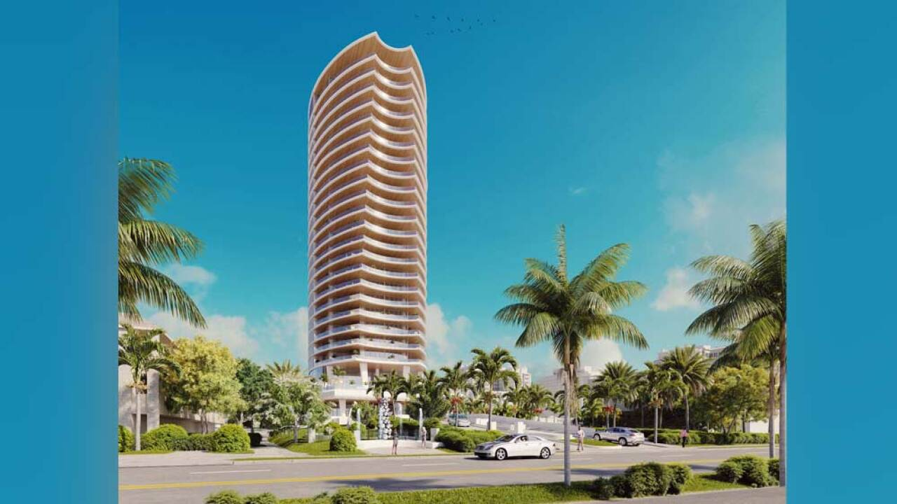 Forté is 24-story boutique tower with only two units on each residential floor. West Palm Beach City Commission gave final approval to the waterfront condominium, which will be located at 1309 South Flagler Dr. in West Palm Beach.