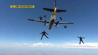 Flying high over Malmstrom with the U.S. Army Golden Knights