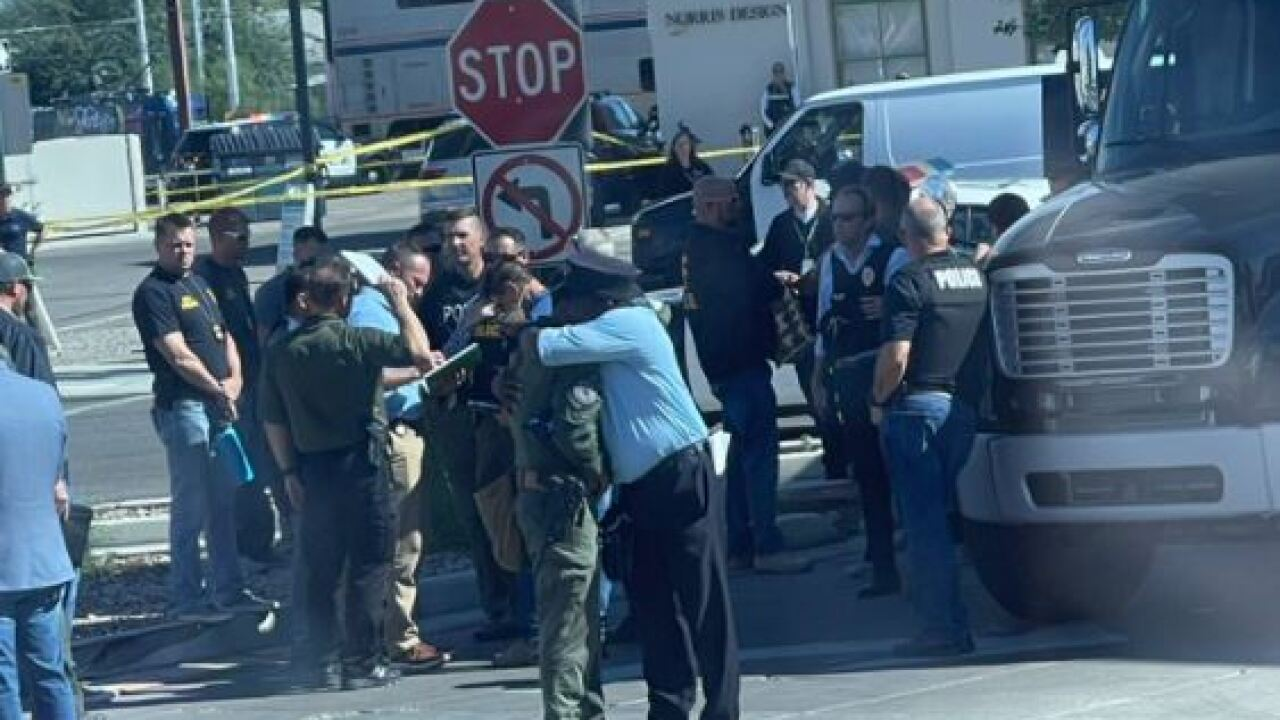 Evan Courtney captured this image at the scene of the shooting.